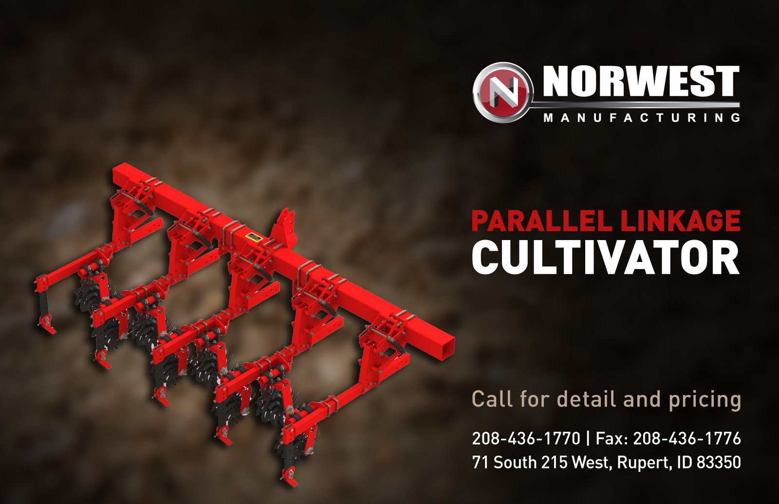 Norwest Parallel Linkage Cultivator